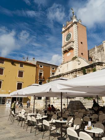 Narodni Trg (Narodni Square), Zadar, Zadar County, Dalmatia Region, Croatia, Europe