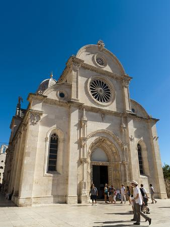 Katedrala Sv. Jakova (St. James Cathedral), UNESCO World Heritage Site, Sibenik, Dalmatia Region, C