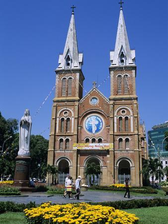 Saigon Notre-Dame Basilica, French Colonial Architecture, Ho Chi Minh City (Saigon), Vietnam, Indoc