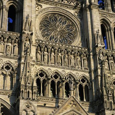 Detail of West Front, Notre Dame Cathedral, UNESCO World Heritage Site, Amiens, Picardy, France, Eu