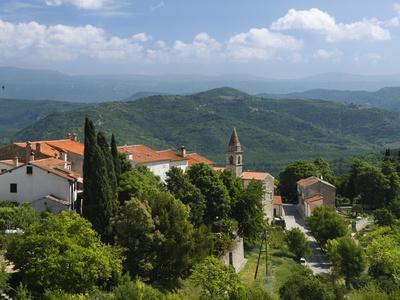 View from Town Walls, Motovun, Istria, Croatia, Europe