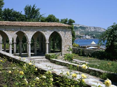 The Rose Garden and Folly, the Palace of Queen Marie, Balchik, Black Sea Coast, Bulgaria, Europe