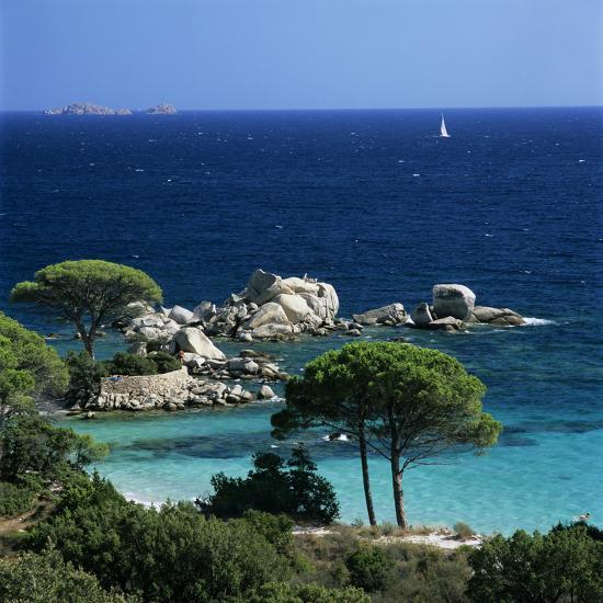 Palombaggia Beach Near Porto Vo South East Corsica France Mediterranean