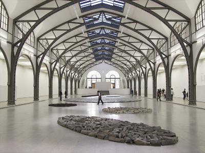 Berlin Circle by Richard Long with Ellipse of Stones, Hamburger Bahnhof Museum, Berlin, Germany