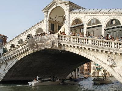 View of the Rialto Bridge on the Grand Canal Built in the Sixteenth Century, Venice, Italy