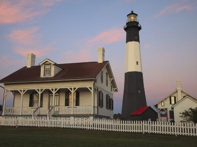 Lighthouse in Early Light at Tybee Island, Georgia, Usa