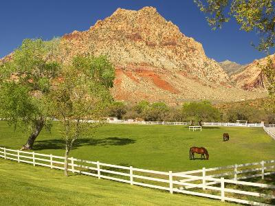 Historic Spring Mountain Ranch, Red Rocks Canyon National Conservation Area, Nevada, Usa