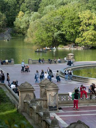 Bethesda Fountain in Central Park, New York City, New York, Usa