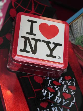 Souvenirs, I Love Ny, for Sale in a Gift Shop in Rockefeller Center, New York City, New York, Usa