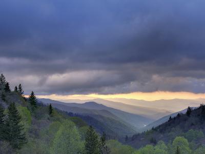 Sunrise View of Oconaluftee Valley, Great Smoky Mountains National Park, North Carolina, Usa