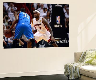 Miami, FL - June 21:  Miami Heat and Oklahoma City Thunder Game Five, LeBron James and Kevin Durant