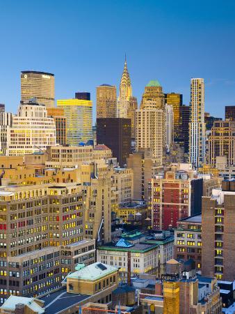 USA, New York, Manhattan, Midtown Skyline and Chrysler Building