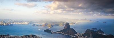 Brazil, Rio De Janeiro, Cosme Velho, View of Sugar Loaf from Cocovado