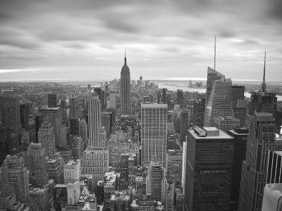 Midtown Skyline with Empire State Building from the Rockefeller Center, Manhattan, New York City, U