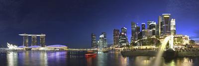 Singapore, Merlion Park and Singapore Skyline