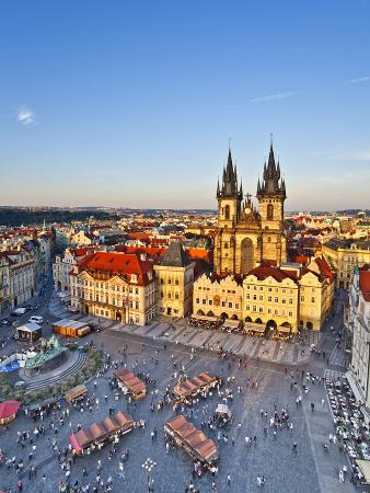 Europe, Czech Republic, Central Bohemia Region, Prague, Prague Old Town Square, Tyn Church