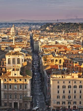 Via Del Corso Ta Sunset, Rome, Lazio, Italy, Europe