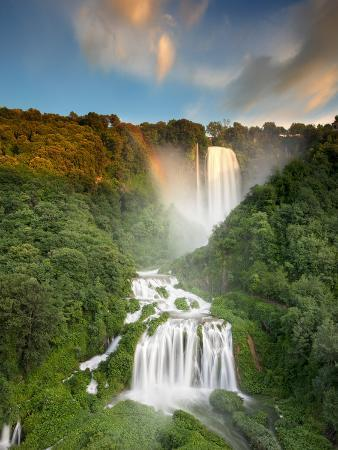 Italy, Umbria, Terni District, Terni, Marmore Falls, One of the Tallest Waterfalls in Europe, 165 M