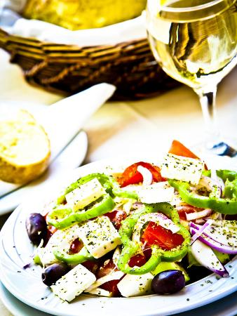 Greek Salad, Plaka District, Athens, Greece