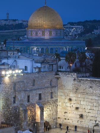 Israel, Jerusalem, Old City, Jewish Quarter of the Western Wall Plaza