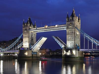 The Famous Tower Bridge over the River Thames in London