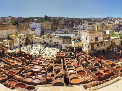 Morocco, Fes, Medina (Old Town), Traditional Old Tanneries