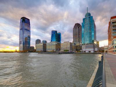 USA, New Jersey, Jersey City on the Hudson River
