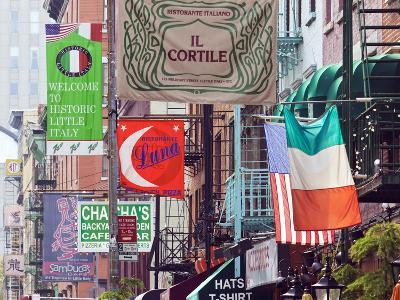 Typical Street Scene in Little Italy, Manhattan, New York, USA