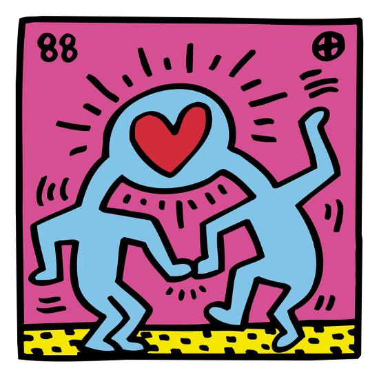 Pop Shop Heart Giclee Print By Keith Haring At