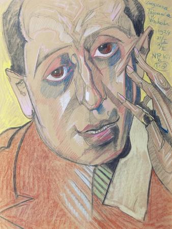 Portrait of a Man, 1924 (Pastel on Paper)