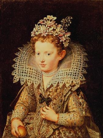 Portrait of Eleonora De Gonzaga Mantua (1598-1655) as a Child