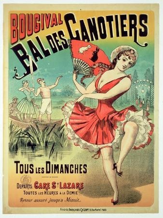 Poster for the 'Bal Des Canotiers, Bougival' (Colour Litho)