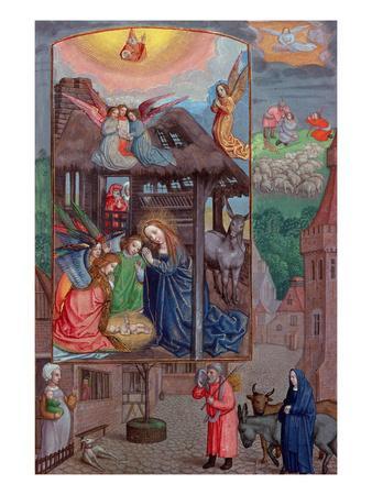 Codex Ser Nov 2844 Birth of Christ, from the Rothschild Prayer Book (Vellum)