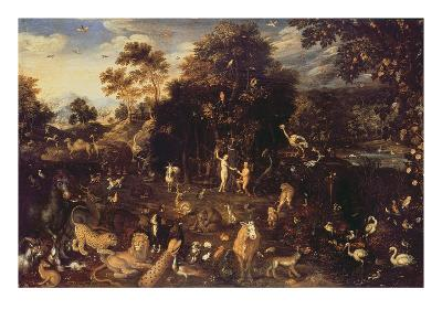 The Garden of Eden with Adam and Eve