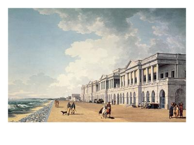 North-East View of Bentinck's Buildings, the Beach, Madras, 1822