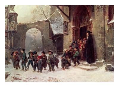 Snow Scene: Children Leaving School, C.1853