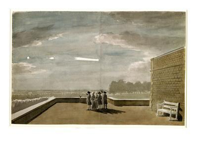 The Meteor of August 18, 1783, as Seen from the East Angle of the North Terrace, Windsor Castle