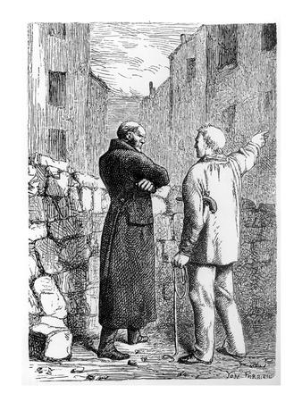 Jean Valjean Gets His Revenge, Illustration from 'Les Miserables' by Victor Hugo (1802-85)