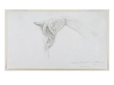 Study for 'Thermaie Antoniniane', 1899 (Pencil on Paper)
