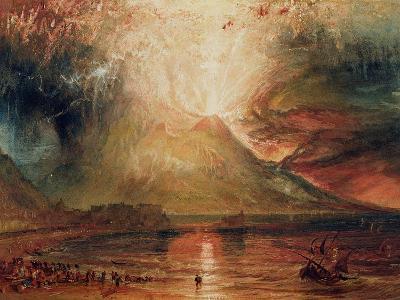 Mount Vesuvius in Eruption, 1817 (W/C on Paper)