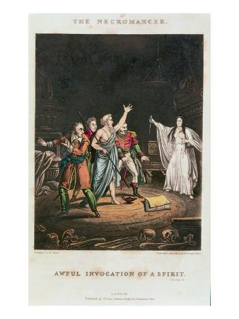 Awful Invocation of a Spirit, Illustration to 'The Necromancer', Engraved by George Russell