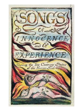 Combined Title Page from 'Songs of Innocence and of Experience', Plate 2 of Bentley Copy L