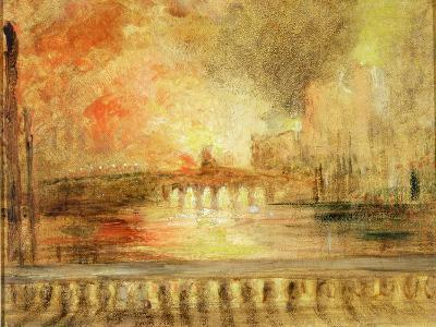 The Burning of the Houses of Parliament, Previously Attributed to J.M.W. Turner (1775-1851)