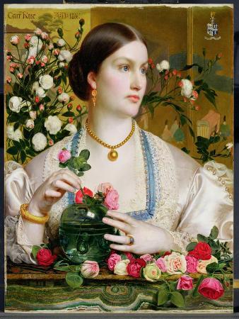 Grace Rose, 1866 (Oil on Panel)