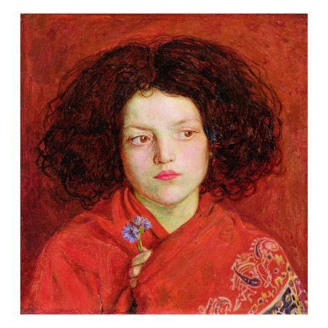 "— Giclee Fine Art Print /""The Irish Girl/"" 1860 Ford Madox Brown"