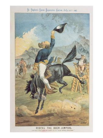 Riding the Buck Jumpers, Lord Salisbury on the Black Horse, Gladstone