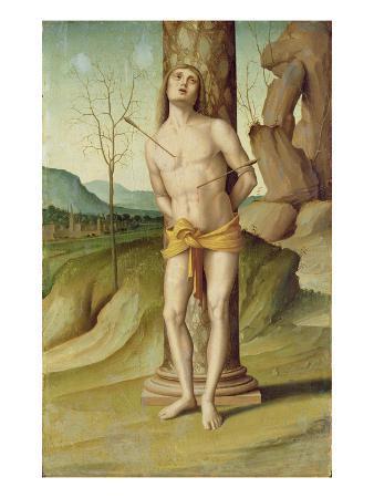 St. Sebastian (Oil on Panel)