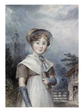 Little Girl in a Quaker Costume, Holding a Bible