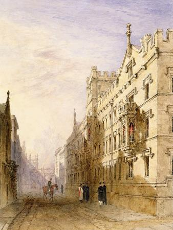 Exeter College, Oxford, 1835 (W/C with Graphite and Gum on Paper)