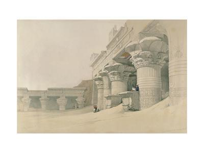 Temple of Horus, Edfu, from 'Egypt and Nubia', Engraved by Louis Haghe (1806-85)
